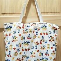 Vintage Lesportsac 90's Shoulder Bag Tulips and Fruit Shopper Tote Bag  Photo