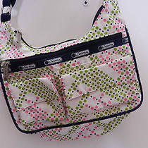 Vintage Lesportsac Retired Green & Pink Dots Shoulder Purse Bag Photo