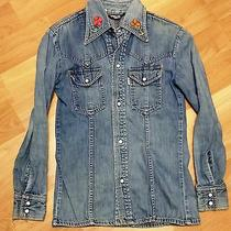 Vintage Levi's 1970's Womens Western Denim Shirt
