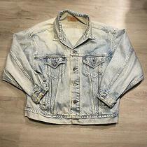 Vintage Levi's Denim Blue Jean Jacket Men Size Large Made in Usa 70507-0214 Photo