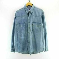 Vintage Levi's Men's Denim Shirt Light Blue Size Xl Western Shirt Cd2576 Photo