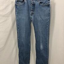 Vintage Levi Strauss & Co 501 Xx Button Fly Denim Jeans 90s Blue Size 36 X 40 Photo