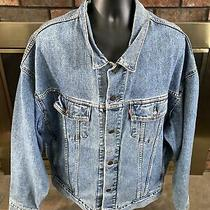 Vintage Levi Strauss & Co. Denim Blue Jean Jacket Mens Size Xl 70598-4891 Vtg Photo