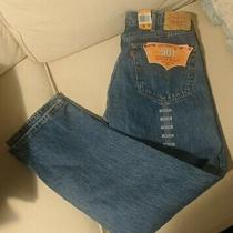 Vintage Levis 501 Mens 38x32 Blue Button Fly Blue Jeans Made in Mexico Nwt New  Photo