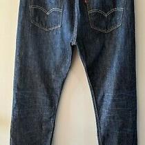 Vintage Levis 501 Xx Original Button Fly Denim Over Dyed Jeans 33x30 Photo