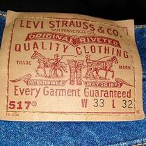 Vintage Levis 517 Blue Jeans Boot Cut Made in Usa Men's 33x32 Photo