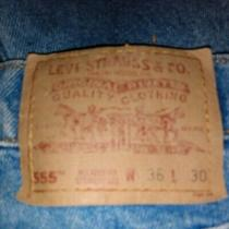 Vintage Levis 555 Blue Jeans Usa 90s Men's 36x30 Relaxed Fit Photo