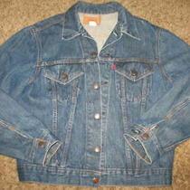Vintage Levis Trucker Jacket Size 42 Type Iii Blue Denim Rockabilly 70505-0217 Photo