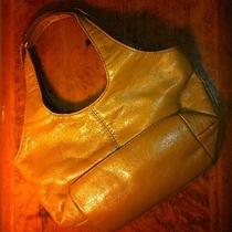 Vintage Light Brown Genuine Leather Nine West Bag W/ Attached Mirror Photo