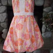 Vintage Lilly Pulitzer Bubble Strapless Dress Sz 8 Bright Cotton Poly Blendex Co Photo