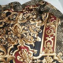 Vintage Linda Allard for Ellen Tracy Silk Scarf Mixed Leopard Design Japan Photo