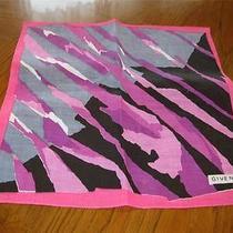 Vintage Linen Retro Givenchy Handkerchief or Scarf 15x15 Photo