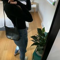 Vintage Liz Claiborne Mini Purse Leather Handbag Shoulder Bag Black 90s 00s Photo