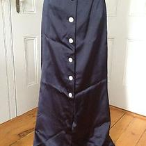 Vintage Long Cocktail Yves Saint Laurent 1970's Maxi Blue Skirt Sz Medium/large Photo