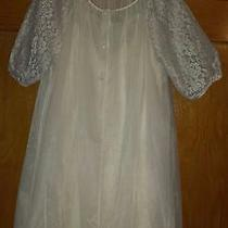 Vintage Lorraine M Peignoir Night Gown Robe Set Sheer Blush Pink Glam Beautiful Photo