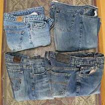Vintage Lot of 4 Blue Denim Jeans Express Buffalo Old Navy Street  28