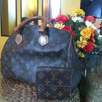 Vintage Louis Vuitton Speedy 30 and Wallet.  Zipper Needs Repair Photo