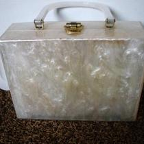 Vintage Lucite Mother of Pearl Purse Handbag Signed Original  Photo