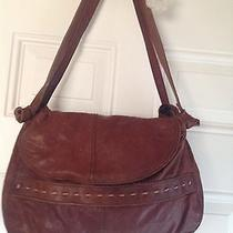 Vintage Lucky Brand Buttery Soft Leather Satchel Tote Bag Photo