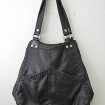 Vintage Lucky Brand Leather Wings of Fortune Hobo Bag Black Euc Photo