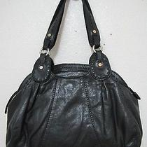 Vintage Lucky Brand Trinity Satchel Black Tumbled Lamb Leather Guc Photo