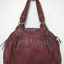 Vintage Lucky Brand Trinity Satchel Maple Red Tumbled Lamb Leather Guc Photo