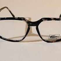 Vintage Lunettes Lacoste 56-15 140 Grey Black Tortoise Sun/eyeglasses Frame New Photo