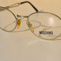 Vintage Lunettes Moschino 50-18 Oval Silver Sun/eyeglasses Frame Italy New Photo