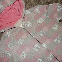 Vintage M Aero Aeropostale Logo Hoodie Hooded Sweatshirt Full Zip Jacket Shirt Photo