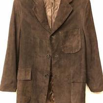 Vintage Made in Usa Coach Suede Jacket Size Xs Dark Brown Blazer 3 Button Photo