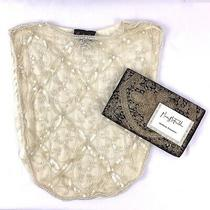Vintage Mary Mcfadden Hand Made Beaded Sequined Ivory Dickie & Black Clutch Bag Photo