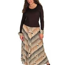 Vintage Maxi Dress Vera Maxwell Brown Silk Knit  1970s Missoni Look Size Large Photo