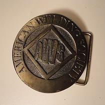 Vintage Men's Belt Buckle American Welding Society  Photo