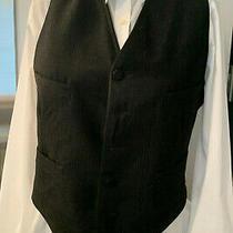 Vintage Men's Black Wool Vest - Size Small Excellent Condition Photo