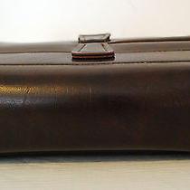 Vintage Men's Brown Tex Tan Leatherette Hinged Vinyl Toiletry Bag 9372t Photo