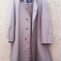 Vintage Men's Burberry Nova Check Beige Single Breasted Trench Coat Long Coat 54 Photo