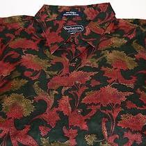 Vintage Men's Burberrys London Dress Shirt Floral Unique Rare Pattern Usa Xl Euc Photo