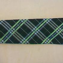 Vintage Men's Express Design Studio Tie Green Plaid Design Photo