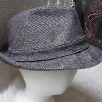 Vintage Men's Fedora Hat by Stevens Size 7 1/8 Tweed Design Photo