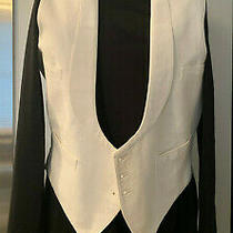 Vintage Men's Ivory Formal Vest - Size Small Excellent Condition Photo