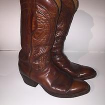 Vintage Men's Lucchese San Antonio Western Cowboy Boots Leather 2083 Size 9 1/2d Photo