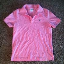 Vintage Men's Pink Izod Lacoste Polo Shirt 80's Sexy Deadstock Nerd Rock Rare M Photo