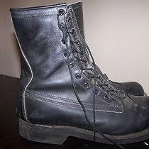 Vintage Mens Addison Shoe Company Black Military Hiking Boots Size 8 E Photo
