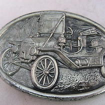 Vintage Mens Belt Buckle Antique Car  Made by Avon  Photo