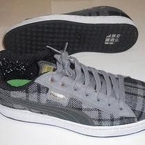 Vintage Mens Puma Basket Gray Black Suede Flannel Shoes Sneakers 13 Photo