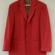 Vintage Mens Red Jacket Blazer Brass Button Burtons Wool Blend Size 38 Medium Photo
