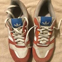 Vintage Mens Red White Adidas Running Shoes Size 8 Photo