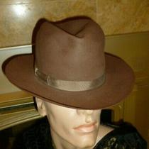 Vintage Mens Royal Stetson Playboy Hat Sz 6 7/8  Brown Fedora Dave Bloom & Sons  Photo