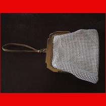 Vintage Mesh Purse With Unique Latch and Wrist Strap by Whiting and Davis  Photo