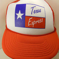 Vintage Mesh Snapback Hat Cap Texas Express Trucking Company New Photo